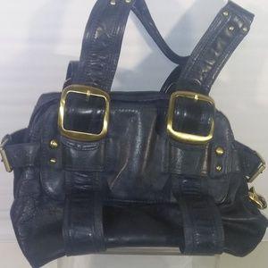 SABINA New York Black Leather Purse Bag